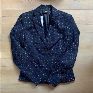 MNG Basics Navy Polka Dot Blazer size 4